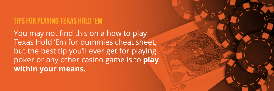 tips for playing holdem